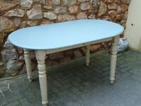 Large Dining Table in Shabby Chic Style