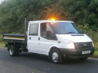 2013(13) Ford Transit T350 LWB DOUBLE CREW CAB BRIT-TIP TIPPER, EURO 5, NOT 3 years OLD, FINANCE?