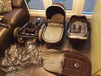 Icandy peach travel system excellent condition from pet and smoke free home. Incl car seat adapters.