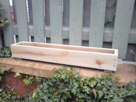 NEW GARDEN FLOWER PLANTERS, TREATED WOODEN FLOWER BOXES, MANY SIZES/COLOURS,QUALITY HANDMADE