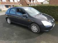 2001 honda civic 1.4 petrol parts or repair drive away