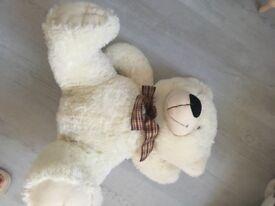 Large white teddy bear