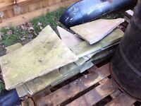small amount of original Flagstone sandstone slabs reclaimed ideal crazy paving