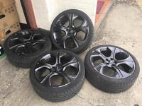 "18"" genuine audi wheels with tyres 5x100"