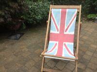 Union Jack deck chair