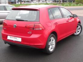Volkswagen Golf MATCH TDI BLUEMOTION TECHNOLOGY (red) 2014-09-30