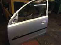 Vauxhall Corsa C SXi And Astra and Zafira H silver and black colour doors for sale