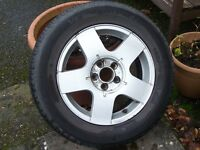 VW Golf MK4 Alloy Wheel & 195.65.15 Vee Rubber tyre