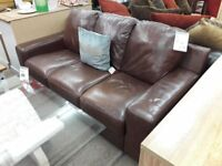 Light Brown Leather 3 + 2 Suite