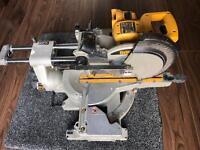 Dewalt chop mitre saw Body only DW017 24v Cut depth 70mm
