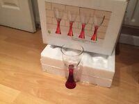 8 Red Stem Wine 🍷 Glasses