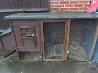 Lrge Rabbit Hutch/Chicken Coup and extras