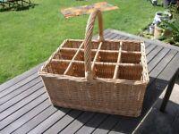 Wicker large basket To Hold 12 Wine Bottles Weymouth