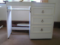 Set of bedroom/study furniture - desk, cupboard & bedside table