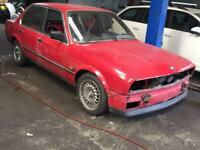 Bmw e30 318 3 series coupe pre facelift red breaking