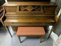 Gorgeous Oak 'Wurlitzer' Upright Console Art Deco Piano - CAN DELIVER