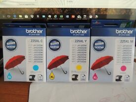 3 x colour inkjet cartridges (XL) for various Brother printers