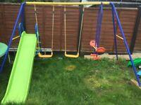 Kids swings and slide