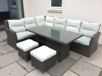 Outdoor Garden Sofa and Dining Set