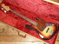 Nash USA Relic 60s Jazz bass with Lollar pickups 2011 and tweed hard case