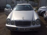 MERCEDES CLK 320 AMG COUPE | 2000 | AUTOMATIC | 3.2L | PETROL | 3 DOOR | SILVER | £1895