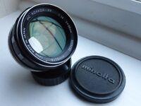 Minolta MC Rokkor PF 58mm F 1:14 [Very fast prime]