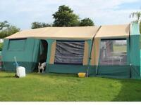 TRGANO VENDOME TRAILER TENT LARGE FAMILY SIZE SLEEPS 8+ - TWO AWNINGS HENCE EXTRA LARGE - COST £4.5K