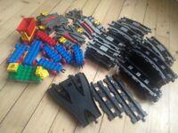 LEGO DUPLO Train Track grey & black carriages trackswitchers