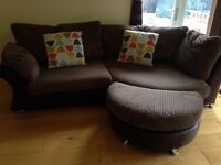 Large corner sofa and chair