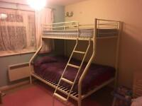 Bunk bed with double mattress (single not included)
