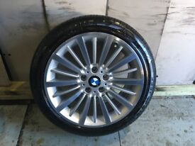 ALLOYS X 4 OF 18 INCH GENUINE BMW 3 SERIES WITH NEW PIRELLI P7 RUNFLAT TYRES FITTED NICE WHEELS