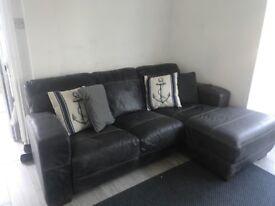 Italian Leather Sofa & Armchair