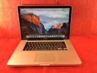 "Apple MacBook Pro A1286 15"" Core 2 Duo Processor, 4GB Ram, 500GB, 2008 +WARRANTY, NO OFFERS L376"