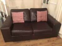 Brown leather sofa & sofa bed amazing quality