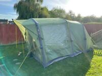 Vango odyssey air beam tent with accessories and trailer