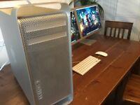 """Mac Pro 4,1 Quad Core - 32GB Ram -250GB SSD - 1X 20"""" Cinema Display"""