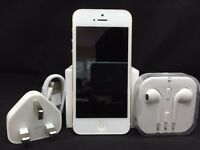 NEW Apple iPhone 5 - 16GB - White & Gold (Unlocked) Smartphone
