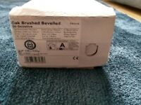 Engineered wood oak flooring - 8 new/unopened boxes x 0.99m2 - click fit - brushed and oiled.