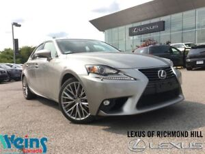 2015 Lexus IS 250 PREMIUM PKG LOW LOW KMS!