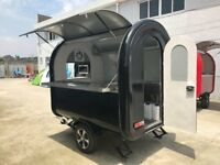 Mobile Catering Trailer Burger Van Pizza Trailer Hot Dog Ice Cream Cart 2300x1650x2300