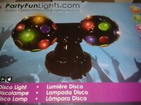 PARTY FUN LIGHTS ROTATING DISCO BALLS NEW AND BOXED