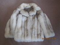 STUNNING GENUINE FOX FUR JACKET - SIZE 14 - MINT CONDITION