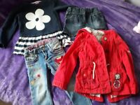 Various girls' clothes age 2-5