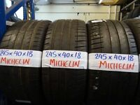 SET OF 4 245 40 18 MATCHING MICHELINS 6MM TREAD £40 EACH SUPP & FITD £150 SET OF 4