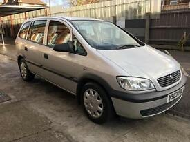 Vauxhall zafira 1.6 petrol , 7 seater family car , low mileage