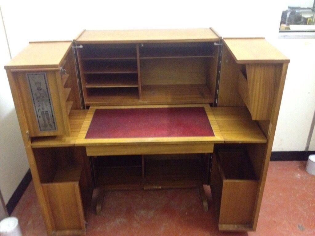 Newcraft Fold Away Home Office Retro Mid Century