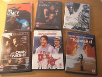 6 x 15/18 DVDs - Karate Kid, The Limey, Alien vs Predator, Casino, Replacements, We Own the Night