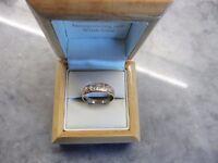 Cymru y Metel 9ct Welsh Gold Diamond Cariad Ring