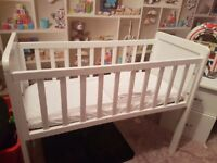 Crib brand new bumper and bedding also brand new cot sheets