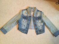 Ladies Crop Denim Jacket, size 8